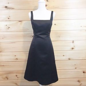 Alfred Snug   Black Tea Length Formal Dress